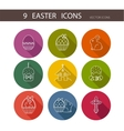 collection of cute Easter icons vector image vector image