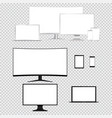 computer monitor laptop tablet phone isolated vector image