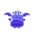 Cute Jelly Toy Blue Dragon Icon vector image vector image