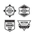 design graphic badge logo set in retro vector image
