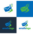 email dollar sign logo and icon vector image