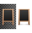 empty blank blackboard advertising menu chalkboard vector image
