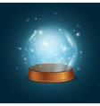 Empty Bright Glowing Crystal Ball vector image