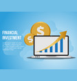 financial investment concept design template vector image vector image