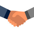 gentlemen agreement handshake symbol design vector image