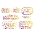 Hand-drawn labels vector image vector image