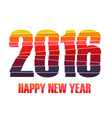 Happy new year 2016 creative colorful random paper vector image vector image