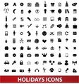 holidays icons set vector image vector image