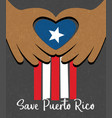 hurricane relief for puerto rico design vector image vector image