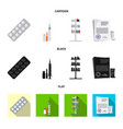 isolated object of pharmacy and hospital sign vector image