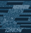 japanese traditional style fabric patchwork vector image vector image