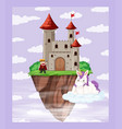 king at castle scene vector image vector image