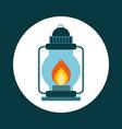 lantern icon design vector image