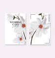 magnolia flower bloom realistic 3d drawing in vector image vector image