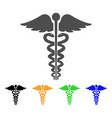 medical caduceus emblem flat icon