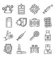 medical immunization icons set outline style vector image vector image