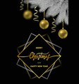 merry christmas and happy hew year card vector image vector image