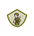 Military Police With Night Stick Baton Shield vector image vector image