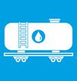 oil railway tank icon white vector image vector image