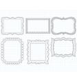 ornate doodle frames vector image