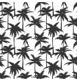 palm trees black print vector image