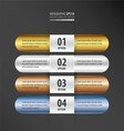 Rounded Banner Design gold bronze silver blue vector image vector image
