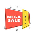 sale banner design template flat line geometric vector image