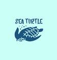 sea turtle logo vector image