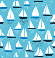 seamless abstract sea background sailboats on vector image