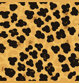 seamless leopard ocelot or wild cat fur pattern vector image