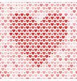 seamless pattern with hearts on light background vector image vector image