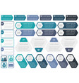 set of assorted infographic templates vector image vector image