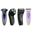 shaver razor electric mockup set realistic style vector image vector image
