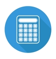 Single flat calculator icon with long shadow vector image vector image