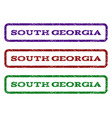 south georgia watermark stamp vector image