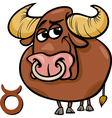 taurus or the bull zodiac sign vector image vector image