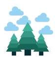 tree forest landscape icon vector image