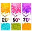 Triangle Sale banners with doodles vector image vector image