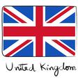United Kindom flag doodle vector image vector image