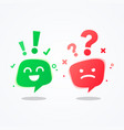 user experience speech bubble emoji vector image vector image