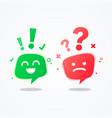 user experience speech bubble emoji vector image