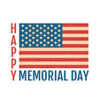 vintage flag og usa for memory day vector image