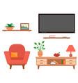 living room furniture set vector image