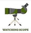 Travel Scope Birdwatching Line Art Icon vector image