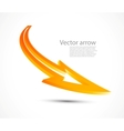 orange arrow vector image