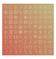 100 line icons set vector image