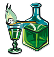 absinthe vector image vector image