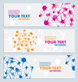 Abstract color network connection vector image vector image
