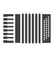 accordion glyph icon music and instrument vector image vector image