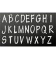 alphabet chalk letters set vector image vector image